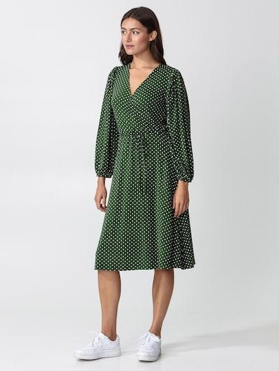 Indiska Dress 'Senja' in Green / Fir / White, View model