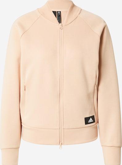 ADIDAS PERFORMANCE Αθλητική ζακέτα φούτερ σε μπεζ / μαύρο / λευκό, Άποψη προϊόντος