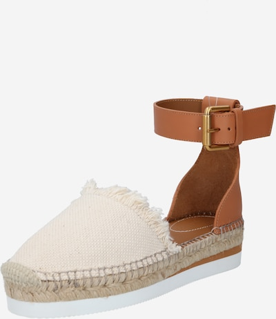 See by Chloé Espadrilles 'Glyn' in creme / cognac, Produktansicht