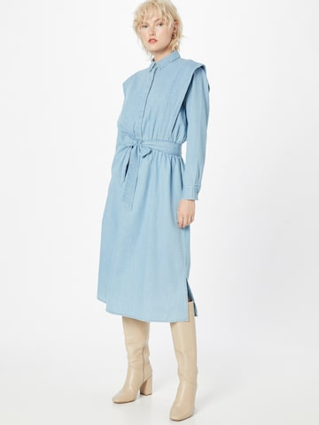 SELECTED FEMME Blousejurk 'SLFTIME LS DRESS U' in Blauw