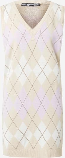 Daisy Street Adīta kleita, krāsa - bēšs / ceriņu / balts, Preces skats