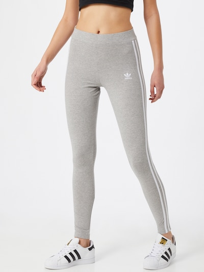 ADIDAS ORIGINALS Leggings in graumeliert / weiß, Modelansicht