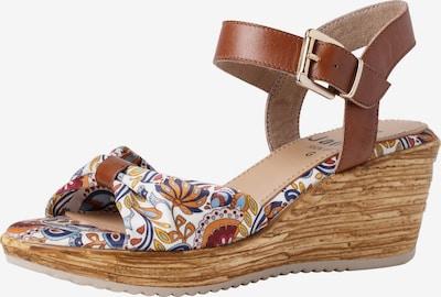 JANA Sandaal in de kleur Bruin / Gemengde kleuren: Vooraanzicht