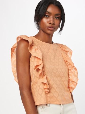 Bluză 'TANNA' de la PIECES pe portocaliu