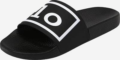 Polo Ralph Lauren Badeschuh in schwarz / weiß, Produktansicht