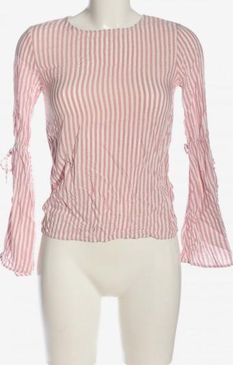 Pull&Bear Schlupf-Bluse in S in hellgrau / weiß, Produktansicht