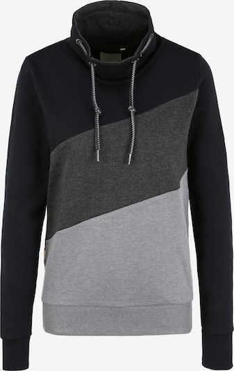 Oxmo Trui 'Agda' in de kleur Grijs / Zwart, Productweergave