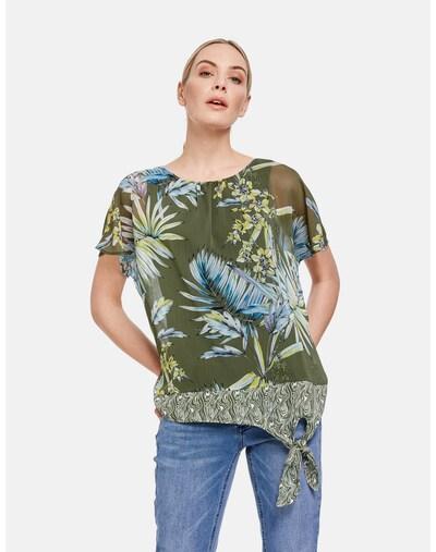 TAIFUN Bluse in blau / grün / khaki, Modelansicht