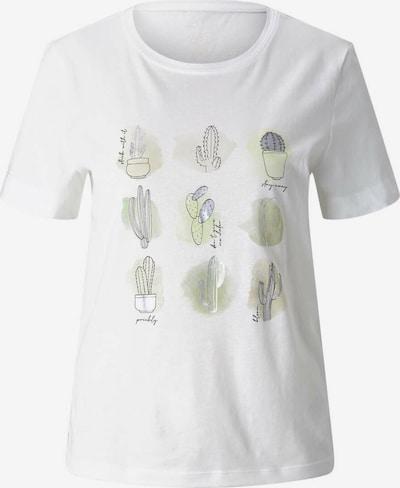 TOM TAILOR Majica | golobje modra / svetlo zelena / bela barva, Prikaz izdelka