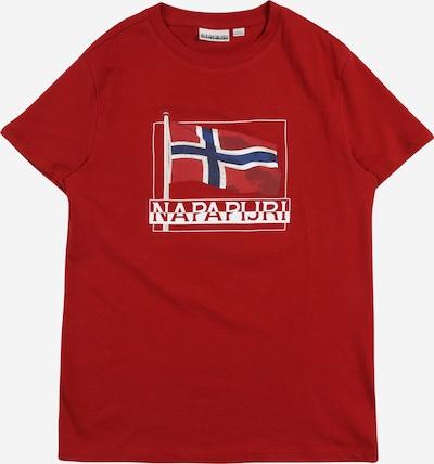 Tricou NAPAPIJRI pe albastru închis / roșu / alb, Vizualizare produs