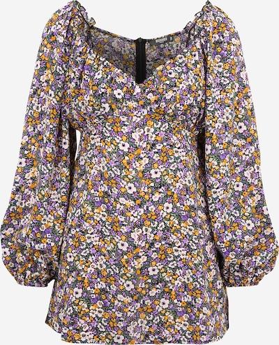 Missguided Petite Kleid in creme / grün / lila / orange, Produktansicht