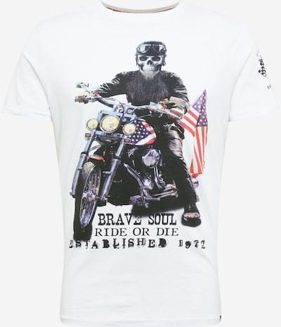 BRAVE SOUL Tričko 'BRANDOX/WS' - zmiešané farby / biela: Pohľad spredu
