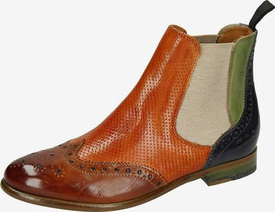 MELVIN & HAMILTON Chelsea Boots ' Selina 6' in dunkelblau / braun / orange, Produktansicht