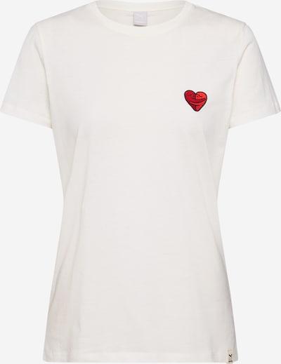 Iriedaily T-Shirt 'Cuddle Girl' in rot / schwarz / weiß, Produktansicht