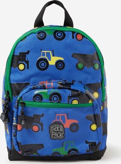 Pick & Pack Rucksack 'Tractor' in blau / mischfarben, Produktansicht
