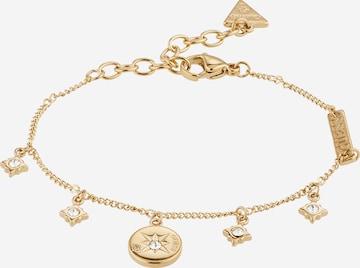GUESS Bracelet 'MULTI COMPASS CRYSTALS BRACELET(GL)' in Gold