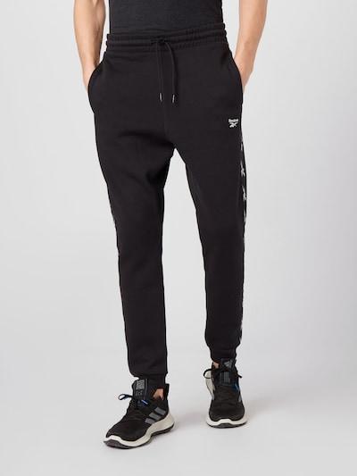 REEBOK Sportovní kalhoty - černá / bílá, Model/ka