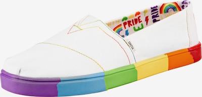 TOMS Slipper in mischfarben / weiß, Produktansicht