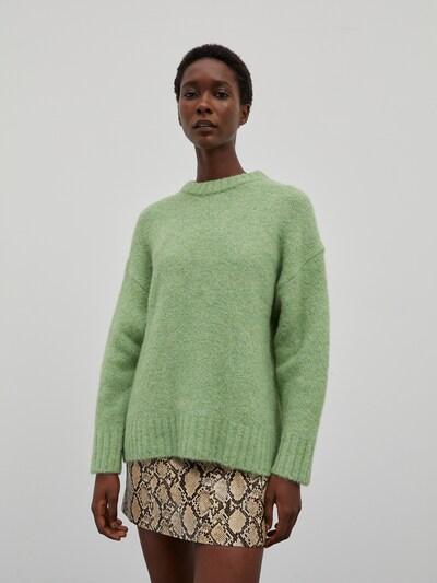 EDITED Pull-over 'Elyse' en vert chiné, Vue avec modèle