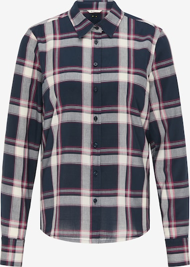 MUSTANG Bluse in dunkelblau / rosa / weiß, Produktansicht