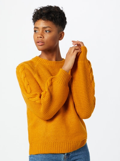 Noisy may Pullover in curry, Modelansicht