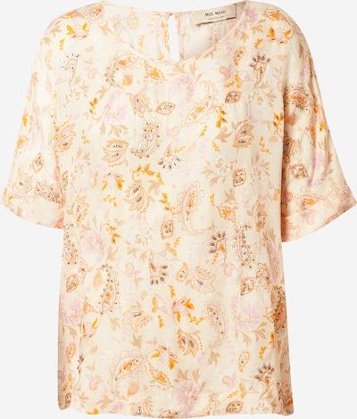 MOS MOSH Bluza 'Palma Chintz' | bež / temno bež / oranžna / roza barva: Frontalni pogled
