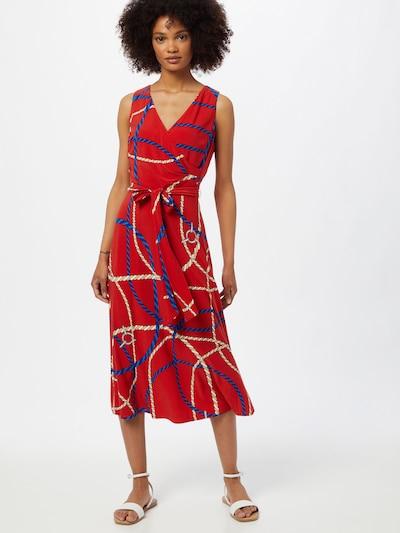 Lauren Ralph Lauren Letné šaty 'CARANA' - béžová / svetlobéžová / námornícka modrá / červená, Model/-ka