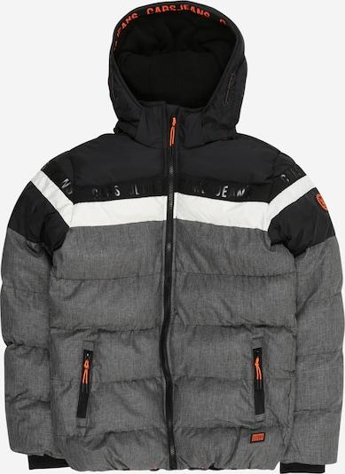 Cars Jeans Veste d'hiver 'Byram' en gris / orange / noir / blanc, Vue avec produit