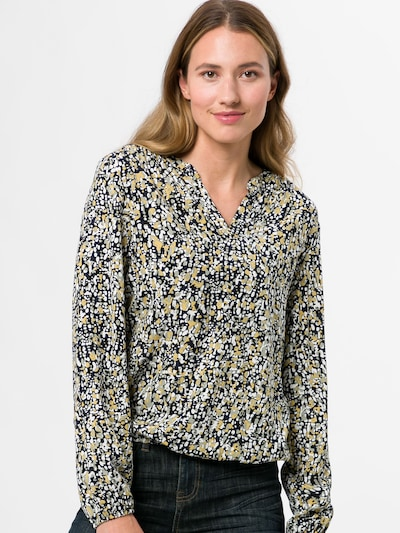 zero Bluse in gelb / schwarz / weiß, Modelansicht