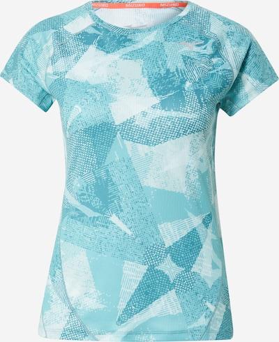 MIZUNO Sportshirt 'Aero' in türkis / weiß, Produktansicht
