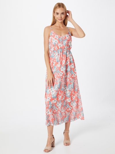 Hailys Kleid 'Sabrina' in himmelblau / koralle / weiß, Modelansicht