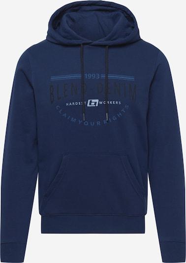 BLEND Sweat-shirt en bleu / bleu foncé / noir, Vue avec produit