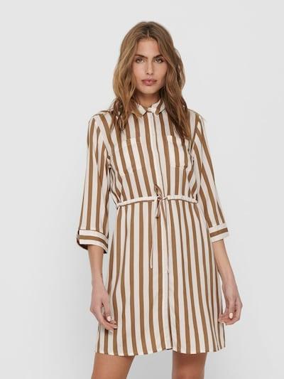 ONLY Robe en beige / marron, Vue avec modèle