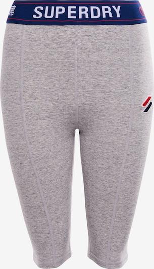 Superdry Pantalon de sport en bleu foncé / gris chiné / rouge / blanc, Vue avec produit