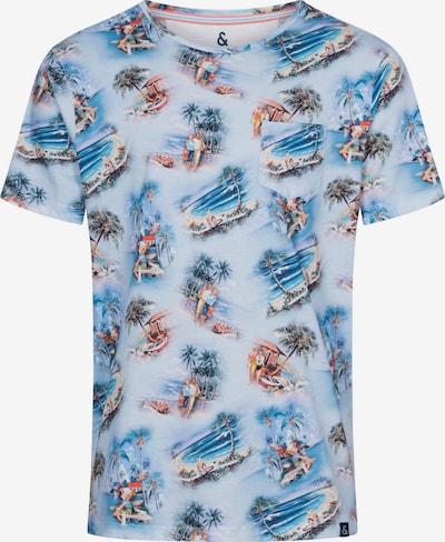 COLOURS & SONS Shirt 'ETHAN' in de kleur Lichtblauw / Gemengde kleuren, Productweergave