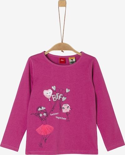 s.Oliver Shirt in dunkelpink / silber, Produktansicht