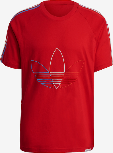 ADIDAS ORIGINALS Shirt 'Adicolor' in de kleur Rood, Productweergave