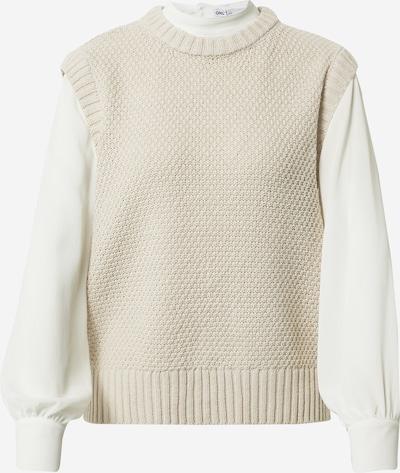 ONLY Pullover 'SAGA' in kitt / weiß, Produktansicht
