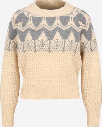 Y.A.S Petite Jersey 'VERA' en gris / blanco lana, Vista del producto