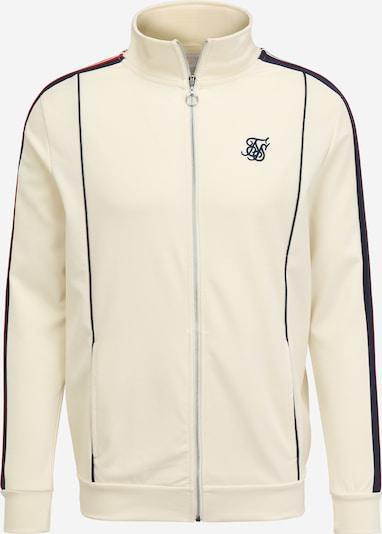 SikSilk Tepláková bunda - námornícka modrá / svetločervená / šedobiela, Produkt