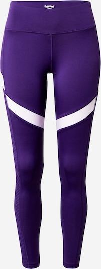 REEBOK Sportbroek in de kleur Donkerlila / Wit, Productweergave