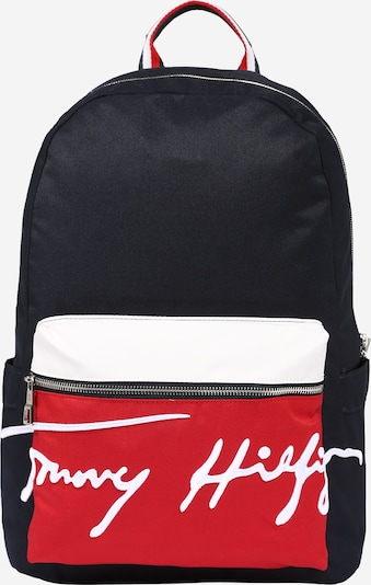 TOMMY HILFIGER Backpack in Dark blue / Red / White, Item view