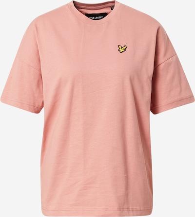 Lyle & Scott T-shirt oversize en jaune d'or / rose / noir, Vue avec produit