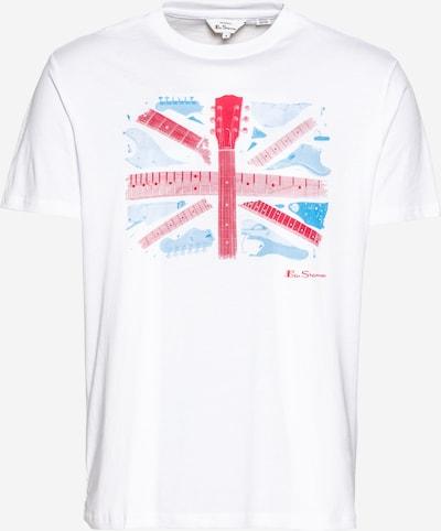 Ben Sherman Shirt 'GUITAR UNION' in light blue / red / white, Item view