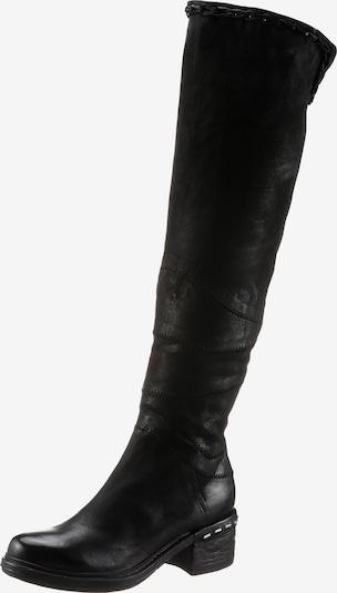 A.S.98 Overknees in schwarz, Produktansicht