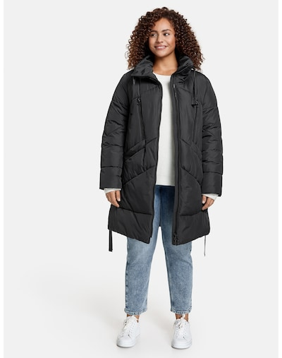 SAMOON Mantel in schwarz, Modelansicht
