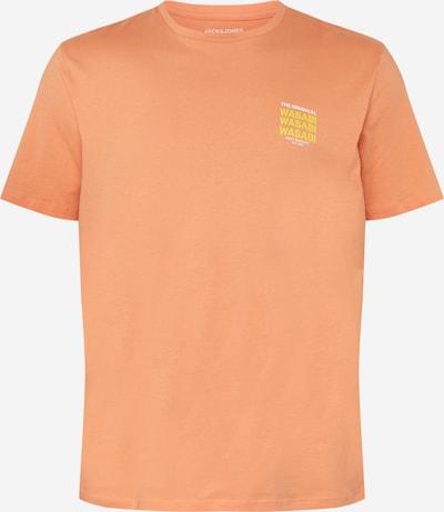 Jack & Jones Plus Тениска 'HUNGRY' в жълто / сьомга / бяло, Преглед на продукта