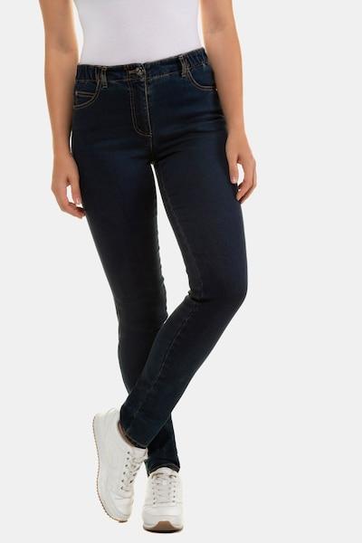 Gina Laura 5-Pocket-Jeans Julia in schwarz, Modelansicht