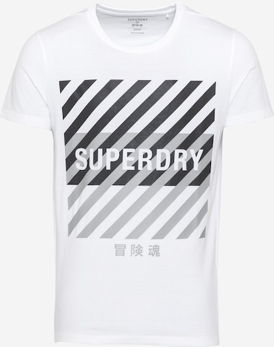 Superdry Koszulka funkcyjna w kolorze szary / czarny / offwhitem, Podgląd produktu