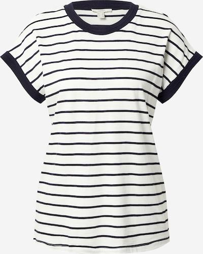 ESPRIT T-Shirt in nachtblau / offwhite, Produktansicht